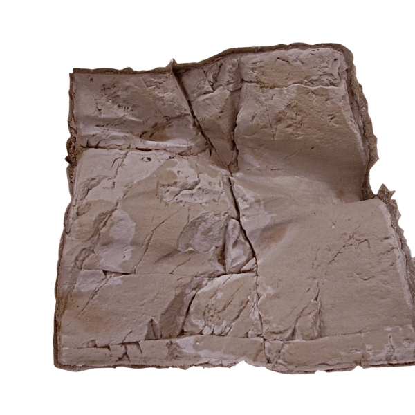 A picture of a Glass Fiber Reinforced Concrete rock panel for sale with a transparent background.